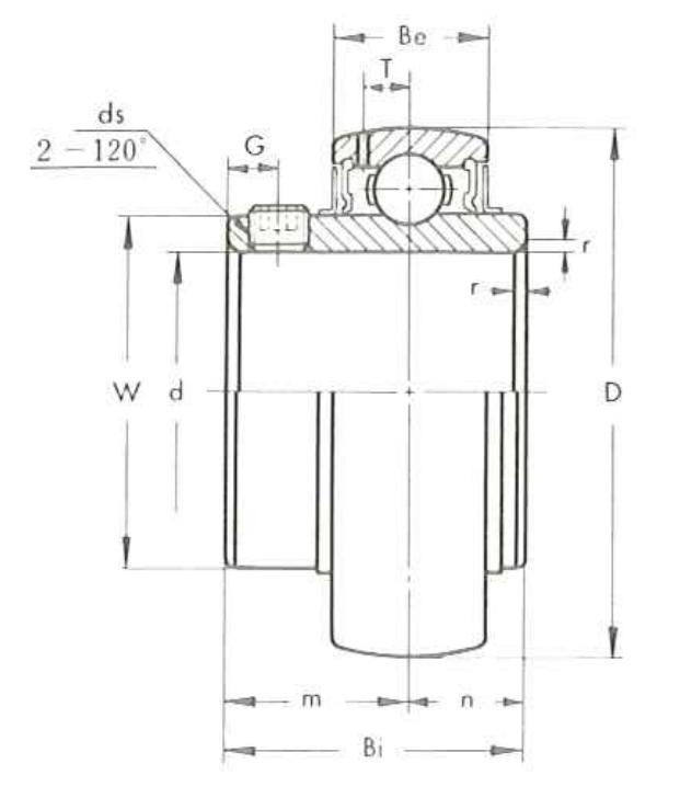 ložisko UC nákres